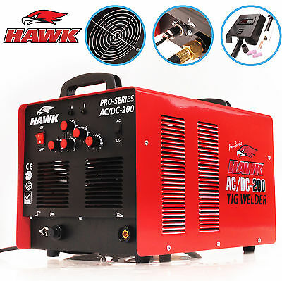 Hawk Tools 230V Ac Dc 200A Inverter Steel Alloy Hf Tig Welder Welding Machine