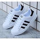 Men's/Women's Striped Lace Up Sport Running Sneakers Superstar Trainers Shoes