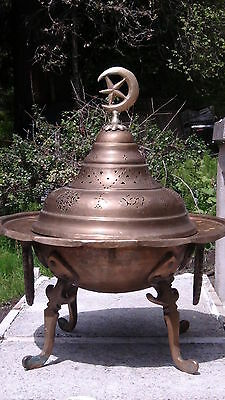 Antique 1780-1820 Islamic Persian Bronze Brass Brazier.estate Collection