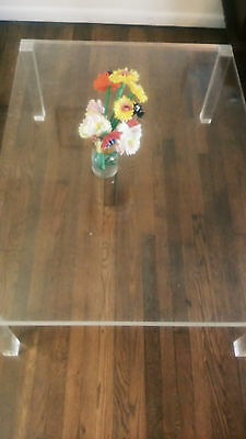HEAVY Mid Century Modern vintage lucite  table