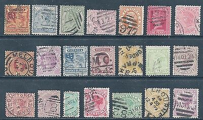 VICTORIA  Selection 21 stampsUSED