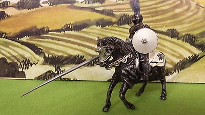 Vintage lead Timpo Medieval Knight mounted. Sir Mordred, The Black Knight.