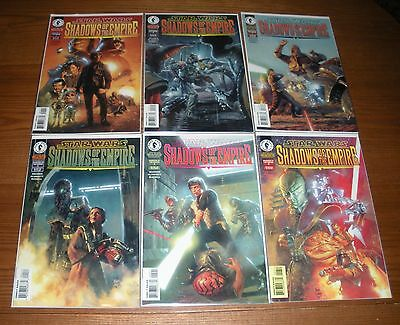 Star Wars Shadows of the Empire, complete set, 6 Dark Horse comic issues lot