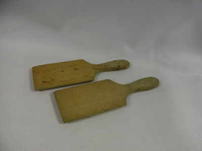 Pair of Vintage Wooden Butter Pats