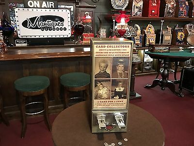 """1930's 10 Cent EXHIBIT SUPPLY CO. Trading Card Vendor """"Watch Video"""""""