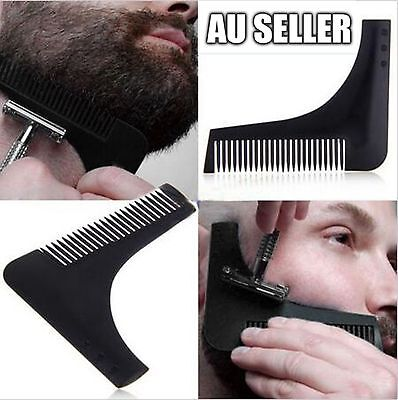 Men's Professional Beard Shaping Shaving Tool Comb for Lines & Symmetry 7 Colors
