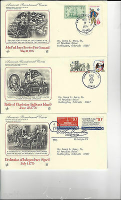 Americas Bicentennial Covers (9) Mint Set .... See Scans ....
