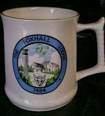 1988 Olde Colonial Evening Tankard. With Cleverly Illustrated Masonic Symbolism
