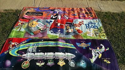 Lot Of 3 Huge Disney Banners Toy Story Winnie The Pooh Emperor's New Groove Rare