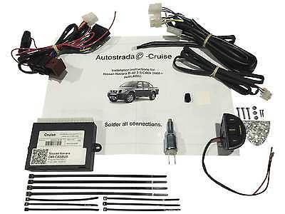 Cruise Control Kit Plug & Play for Nissan Navara D40 2.5L Turbo Diesel 2006 on