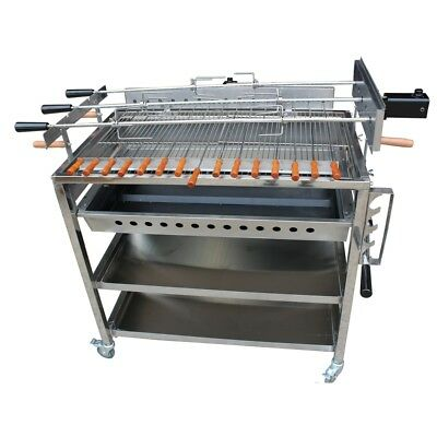 New 3 In line Extra Large Cyprus Grill BBQ with 2 x Variable Speed motors