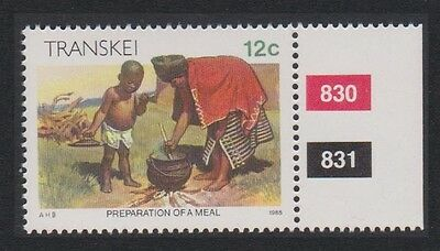 Transkei Xhosa Culture Preparing a meal 1v 12c Margin With Control number
