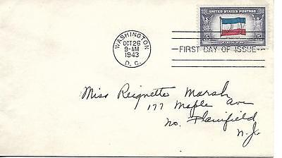 Scott # 917 First Day Cover Overrun Countries Yugoslavia Uncacheted Addressed