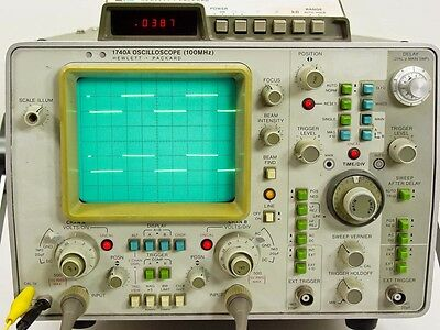 HP Agilent HP1740A 1740A Oscilloscope Operating and Service Manual
