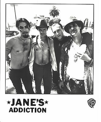 Jane's Addiction -  8 x10 B&W  Record Company Publicity Photograph!