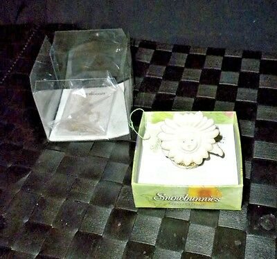 "Department 56 1999 Snowbunnies Trinket Box ""Bunny In Bloom"" New In Box #26332"