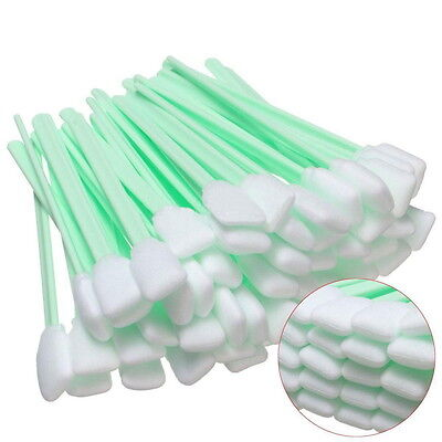 50Pcs Foam Tipped Solvent Cleaning Swab For Inkjet Printer Swabs Camera Lens #LZ