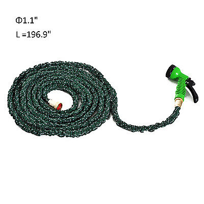 50ft Expandable Water Hose Outdoor 7 Way Sprayer Nozzle w/ Metal Connector