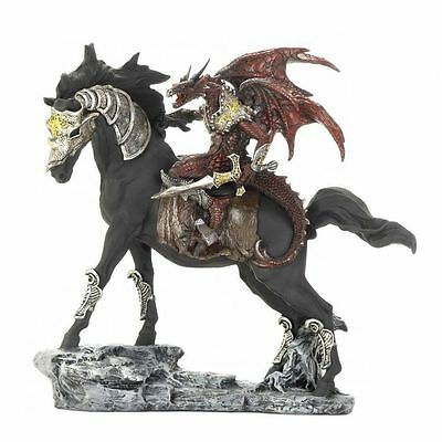 Medieval Decorative Armored Dragon Sword Wall Plaque & Statue Warrior 2PC Mixed