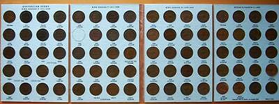 Australia Complete Set Of Australian Pennies (1911-1964) Inc 1925 & 1946 No 1930