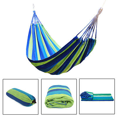 AU Travel Double Person Hammock Camping Outdoor Garden Swing Sleeping Bed Cotton