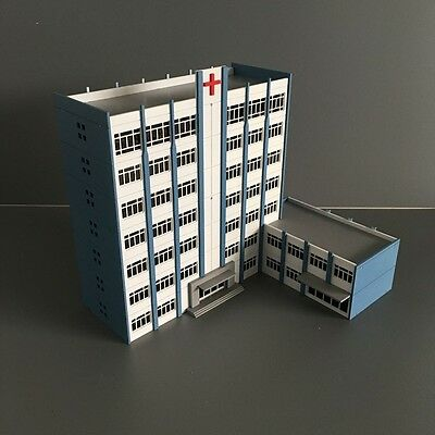 N Scale 1/160Hospital 9 Story White Building