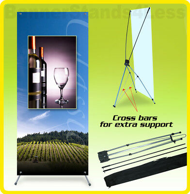 24x63 Tripod X Banner Stand Xstand Trade Show Sign Display (60x160)