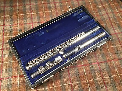 Bonneville Paris Vintage Open Hole Professional Flute Very Old Excellent Used