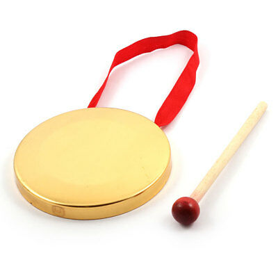 Show Decoration Percussion Brass Musical Instrument Copper Gong Red Gold Tone