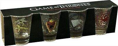Game of Thrones House Shot Glass: 4 Pack, 2016  Merchandise  NEW