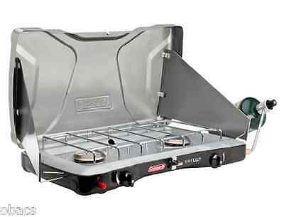 Coleman Instastart Triton 2 Burner Camping Stove Gas Lpg Camp Cooking Camping