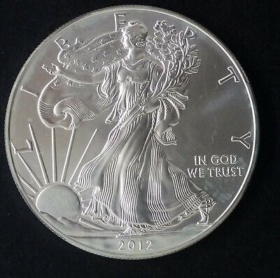 "2012 United States 1oz Silver (.999) $1 ""American Silver Eagle"" Bullion Coin"