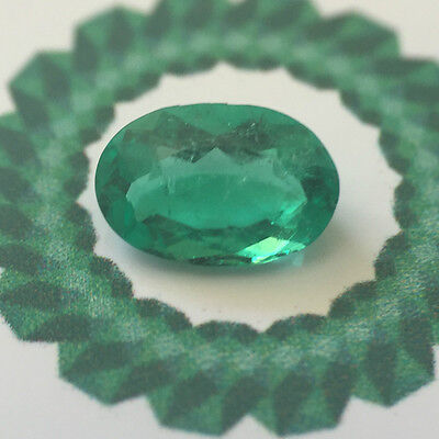 RRV: $1350  NCJV- FGAA Natural colombian emerald  loose gemstone oval cut