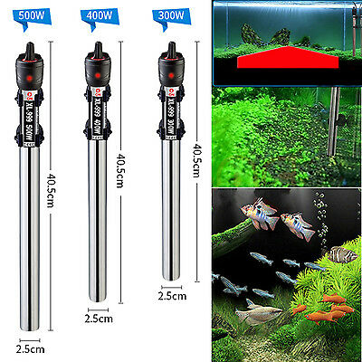 500W Stainless Steel Submersible Water Heater Heating Rod For Fish Tank *