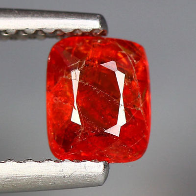 0.75 Cts_Unique Hi-End Very Rare Gemstone_100 % Natural Orange Spinel_Burmesh