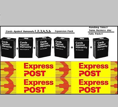 Cards Against Humanity Australian All Expansion Pack 1,2,3,4,5,6 lowest price