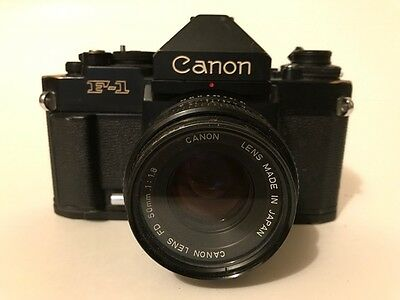 Canon F1 WORKING, 2 lenses, rare view finders, motor drive, flash and extenders!