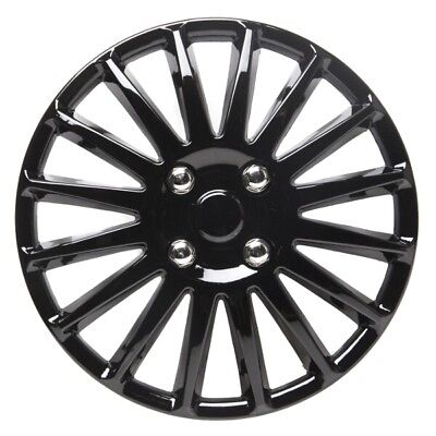 Speed 15 Inch Wheel Trim Set Gloss Black Set of 4 Hub Caps Covers - TopTech