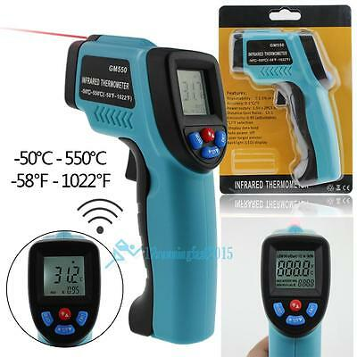 Non-Contact LCD IR Infrared Digital Temperature Temp Laser Point Gu Thermometer