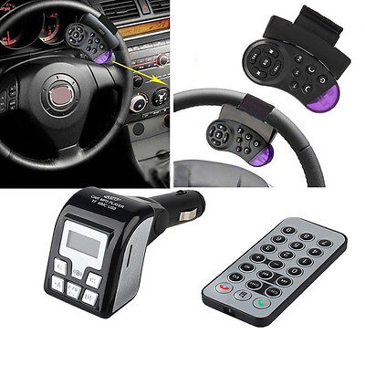 Bluetooth Car Kit MP3 Wireless FM Transmitter USB Aux SD LCD Charger Hands Free