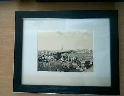 Reprint of 1840 Sketch of Louth - View of St James from Fish's Hill