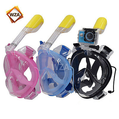 Breath Easy Surface Snorkeling Mask Full Face Dry Snorkel Scuba Swimming Diving