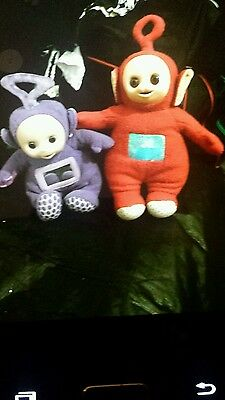 teletubbies toys one pairs of beautiful  soft been hardy used good condition.