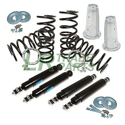Land Rover Defender 110 Full Suspension Kit, Shocks Springs & Galvanised Turrets