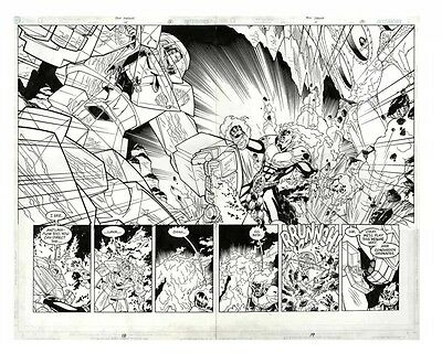 Alan Moore Tom Strong #15 Original Art DPS! Chris Sprouse - Epic Action Scene!