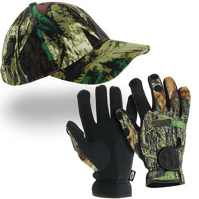 Fishing Xl Neoprene Gloves + Camo Led Cap Bivvy Light Carp Fishing Tackle