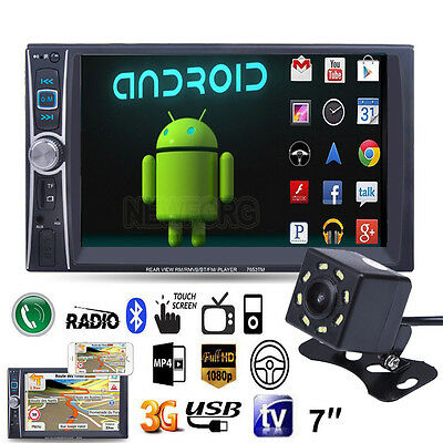"7"" Double 2Din In Dash Car Stereo MP5 MP3 Player Bluetooth Radio FM/USB +Camera"