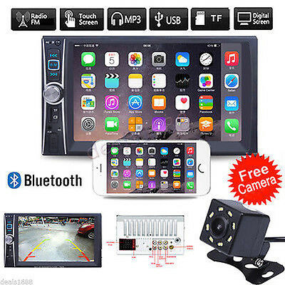 "2 DIN 7"" HD Car Touchscreen Bluetooth Stereo MP3 MP5 Player Radio FM/USB+Camera"