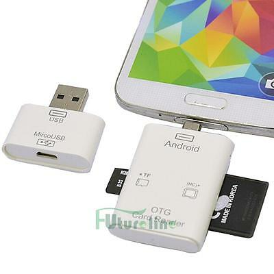 5in1 Micro USB OTG SD TF Card Reader Connection Kit for Android Phones Tablet PC