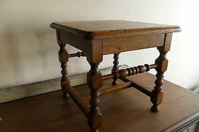 Very attractive French Antique Arts & Crafts Stool. Very good condition.